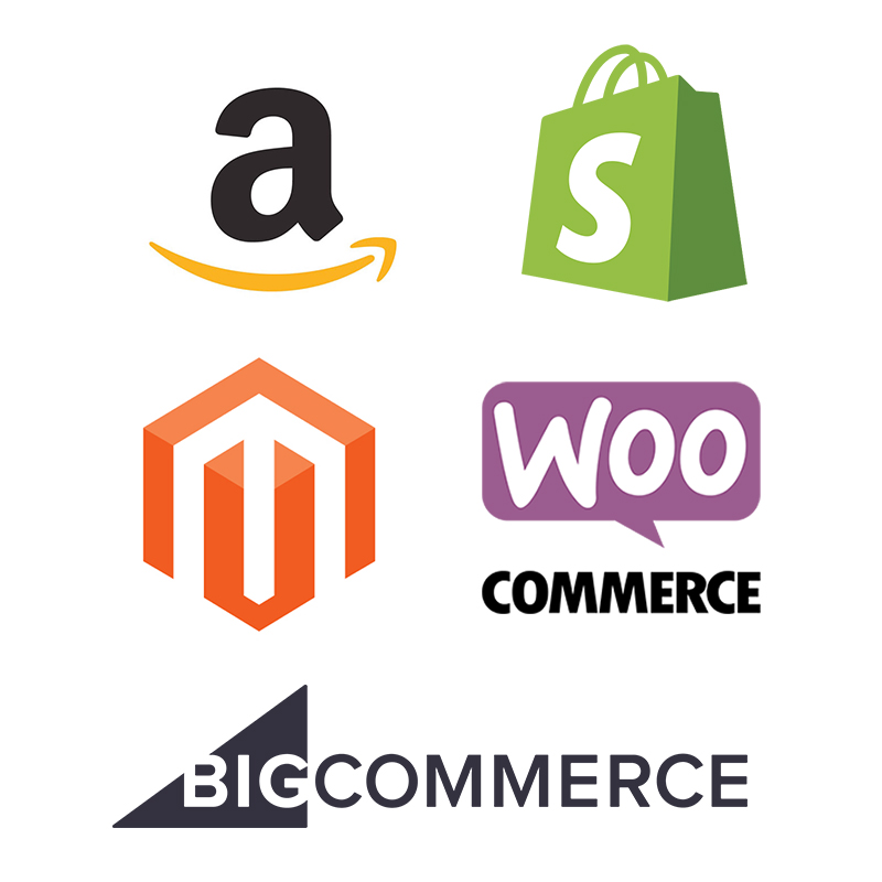 Top 5 eCommerce Platforms Logos
